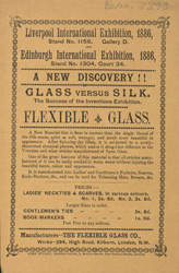 Advert for the Flexible Glass Company